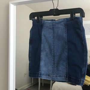 Two toned FP denim skirt